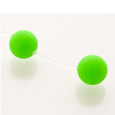 Sexus шарики вагинальные 11 см, зеленые Без вибрации, гладкие и hot super glide raspberry 75 vk