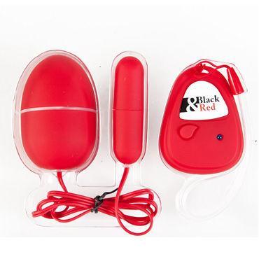 Toyfa вибронабор, красный Вытянутой и яйцевидной формы, с пультом ДУ вибронабор с пультом ду 5 режимов вибрации красный