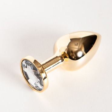 Toyfa втулка, 7 см, золотистая На подставке, с имитацией бриллианта