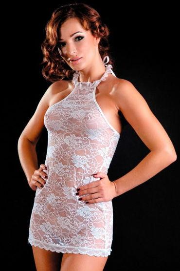 Erolanta комбинация, белая Из роскошного кружева мини платья и сорочки erolanta