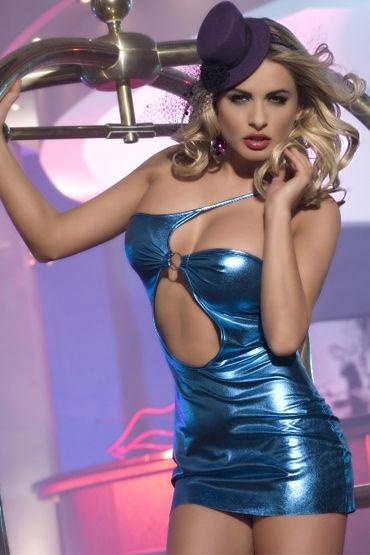 Candy Girl платье, голубое С оригинальным декольте candy girl кэтсьюит с глубоким декольте