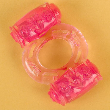 Toyfa кольцо, розовое С вибрацией пекин fun флюиды пары секс игрушки женской мастурбации частоты колебаний зонда сердечника 7