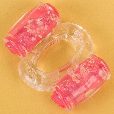 Toyfa кольцо, прозрачное С вибрацией bioclon анальная пробка красная на присоске