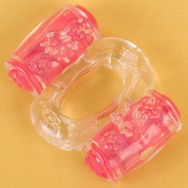 Toyfa кольцо, прозрачное С вибрацией увеличиваем член toyfa