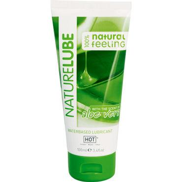 Hot NatureLube, 100 мл Лубрикант на водной основе с Алоэ Вера виброяйцо sexus funny five зеленое 4 5 см