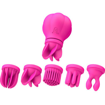 Adrien Lastic Caress, розовый Стимулятор клитора и интимных зон вибратор rubber pink