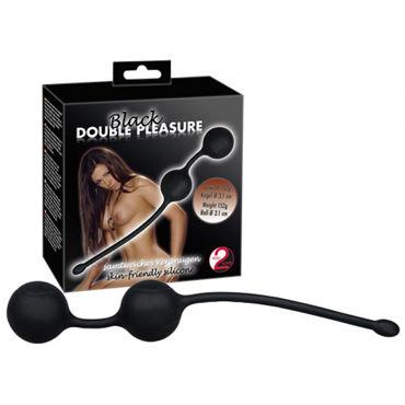 Orion Black Double Pleasure Вагинальные шарики на сцепке секс машина my pleasure