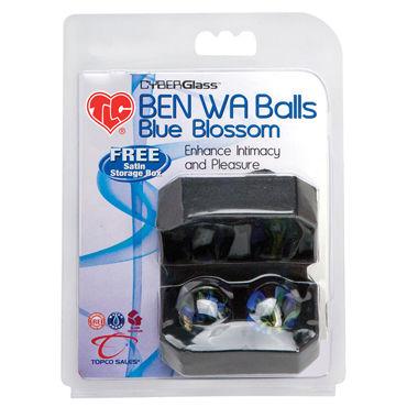 Topco Ben Wa Balls Blue Blossom Стеклянные вагинальные шарики