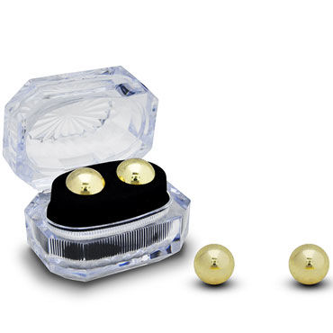 Gopaldas Вагинальные шарики, золотистые Утяжеленные в коробочке игрушки для фиксации gopaldas curvehead