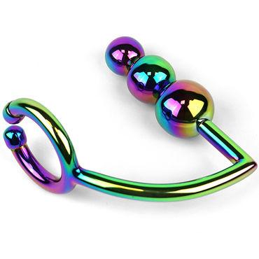 House of Steel Rainbow Horse Shoe Ring with Balls, разноцветный Анальный плаг с эрекционным кольцом house of steel horse shoe ring with ball разноцветный анальный плаг с эрекционным кольцом