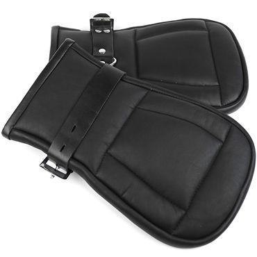 House of Steel Padded Leather Mitts, черные Перчатки для подвешивания house of steel horse shoe ring with ball разноцветный анальный плаг с эрекционным кольцом