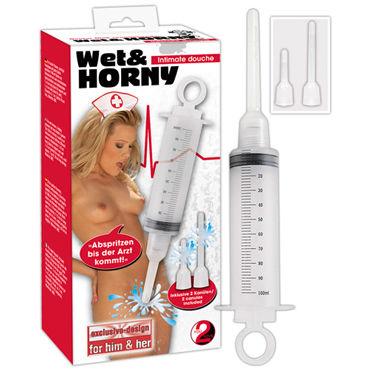 You2Toys Shower, прозрачный Шприц с двумя съемными насадками рука для фистинга с вибрацией