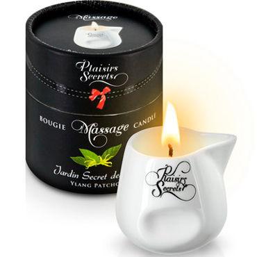 Plaisirs Secrets Massage Candle Des Ylang Patchouli, 80мл Свеча массажная Иланг-Иланг и Пачули j cotelli платье горничной черно белое