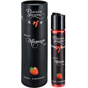 Plaisirs Secrets Massage Oil Strawberry, 59мл Массажное масло Клубника topco tlc magic massager health herald