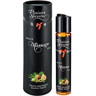Plaisirs Secrets Massage Oil Exotic Fruits, 59мл Массажное масло Экзотические фрукты смазки для усиления эрекции plaisirs secrets