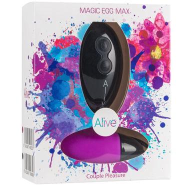 Alive Magic Egg Max, фиолетовое Вагинальное яйцо с пультом управления lovetoy rock n roll egg фиолетовое виброяйцо с пультом управления