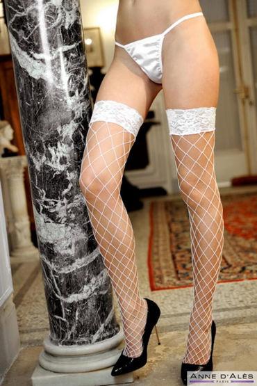 Anne d'Ales Erica Stockings, белые Чулки в крупную сетку о стимуляторы простаты тьс