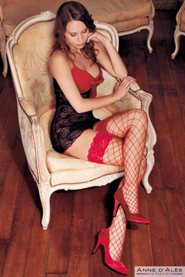 Anne d'Ales Erica Stockings, красные Чулки в крупную сетку hjnbxtcrbt аксессуары детали успеха anne d ales 8
