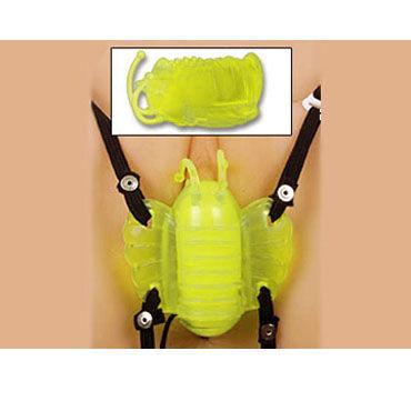 Gopaldas Butterfly Massager желтый Клиторальный стимулятор с вибрацией вибробабочки материал abs пластик это