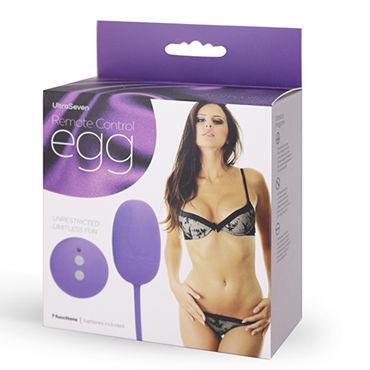 Seven Creations Remote Control Egg, фиолетовое Виброяйцо с дистанционным управлением lovetoy rock n roll egg фиолетовое виброяйцо с пультом управления