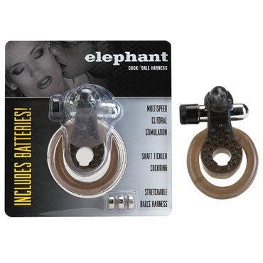 Gopaldas Elephant Cock Ring черный Эрекционное кольцо с вибрацией