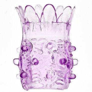 Sextoy Насадка на фаллос фиолетовый С шипами в виде ананаса насадка sextoy закрытая с шипами и бусинами розовая