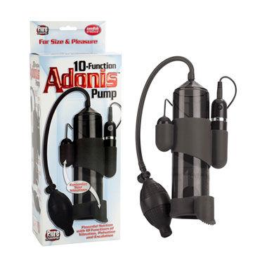 California Exotic Adonis Pumps, черная Мужская помпа, 10 функций masculan ultra strong