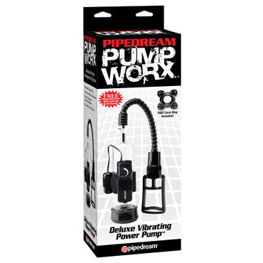 Pipedream Pump Worx Deluxe Vibrating Power Pump Вакуумная помпа для мужчин с вибрацией hot ero anal backside spray 50мл спрей для анального секс