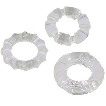 Gopaldas эрекционное кольцо Со стимулирующей поверхностью, 3 шт p gopaldas latex vibratone balls 3 5 см телесные повреждения