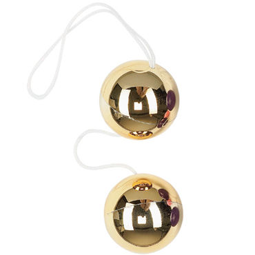 Dream toys шарики, золотые Вагинальные, диаметр 3,5 см baile vibe indulgence фиолетовый вагинально клиторальный вибратор
