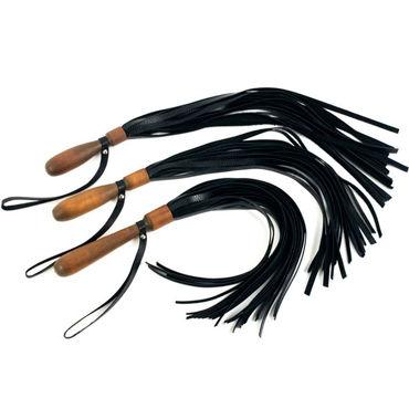 Beastly Клеймило-7, черная Плеть с деревянной ручкой