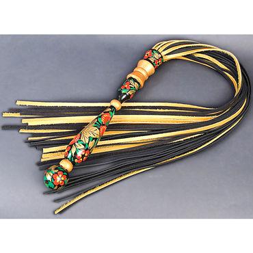 Beastly Русский сувенир, черно-золотая Плеть с деревянной ручкой ивыь арсенал дизайнерская плеть серебристая х