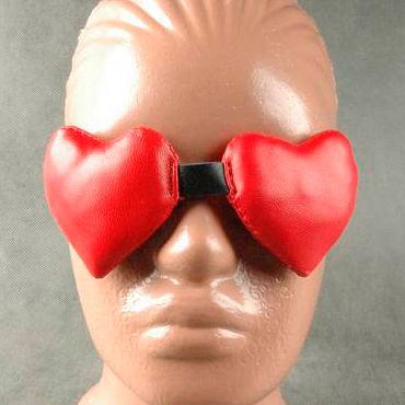 Beastly Дабл-Х, красно-черная Маска в виде мягких сердечек mister b lycra hood eyes open only черная маска на голову