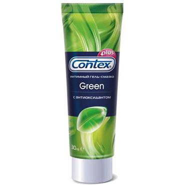 Contex Green, 30 мл Лубрикант с антибактериальным эффектом contex extra sensation презервативы с крупными точками и кольцами