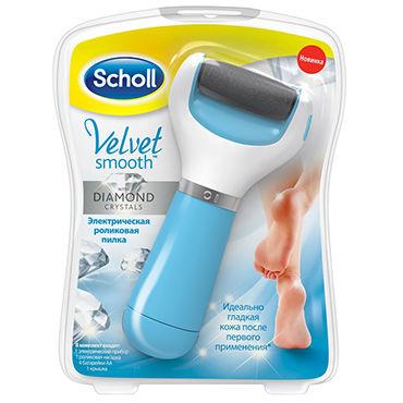 Scholl Velvet Smooth Электрическая пилка для стоп чулки сетка soft line с кружевной резинкой красные xl