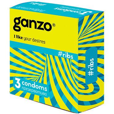 Ganzo Ribs Презервативы с ребрышками toyz4lovers silicone caterpill ass розовый