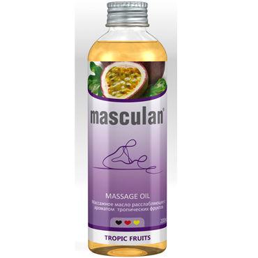 Masculan Massage Oil Tropic Fruits, 200 мл Массажное масло с тропическим ароматом toyfa theatre оковы розовые из неопрена