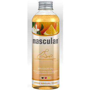 Masculan Massage Oil Citrus Sensual Touch, 200 мл Массажное масло с цитрусовым ароматом my size 57 178