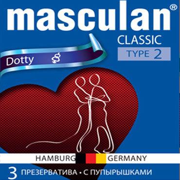 Masculan Classic Dotty Презервативы с пупырышками masculan classic xxl презервативы увеличенного размера