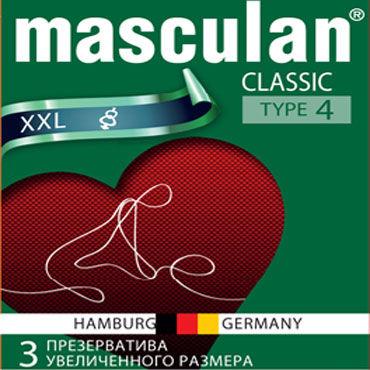 Masculan Classic XXL Презервативы увеличенного размера podium сбруя на фаллос и мошонку 5 колец