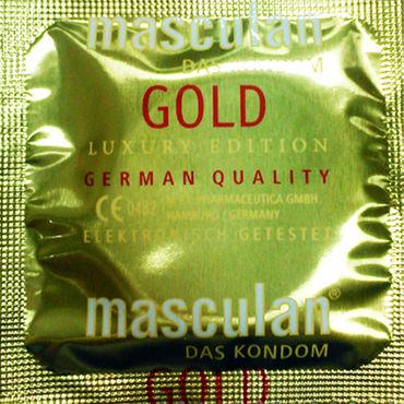 Masculan Gold Luxury Edition Презервативы с золотистым напылением набор фиксаторов