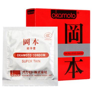 Okamoto Skinless Skin Super Thin Ультратонкие презервативы для максимально естественных ощущений фиксаторы lux fetish с креплением к двери черные