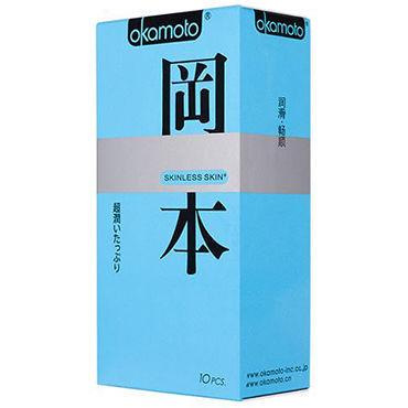 Okamoto Skinless Skin Super Lubricated Презервативы с обильной смазкой для максимально естественных ощущений candy girl боди чёрное с открытой спинкой