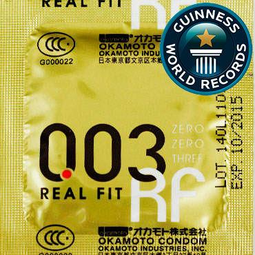 Okamoto Real Fit Презервативы самые тонкие латексные, анатомической формы bdsm арсенал ошейник широкий с продольным кольцом черный декорирован шипами