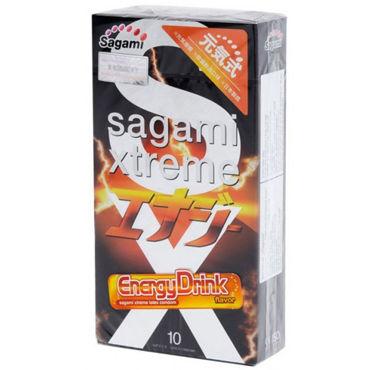 Sagami Xtreme Energy Презервативы латексные с ароматом red bull