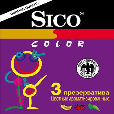 Sico Colour Презервативы цветные ароматизированные ouch leather slit paddle фиолетовая шлепалка с наконечником из двух полос
