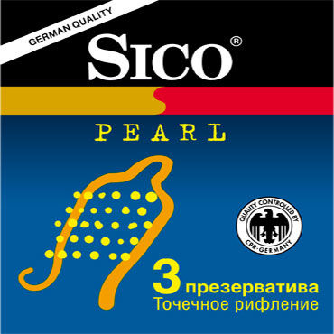 Sico Pearl Презервативы с пупырышками шлепалка ouch leather circle tiped crop черная