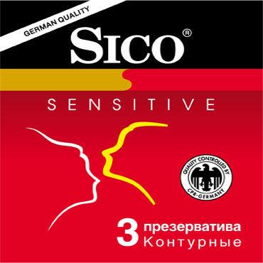 Sico Sensitive Презервативы анатомической формы анальные игрушки для женщин цвет голубой