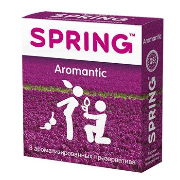 Spring Aromantic Презервативы с ароматом тропических фруктов hustler all about anal 9 beads черная гибкая анальная цепочка из 9 шариков