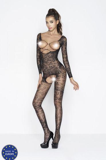 Passion Мираж, черный Кэтсьют с открытой грудью chilirose комплект cr4132 сорочкастринги
